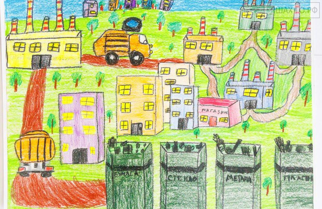 Детские рисунки банк будущего