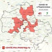В Подмосковье зарегистрирован 41 случай заболевания коронавирусной инфекцией